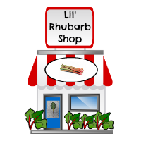Lil' Rhubarb Shop to Buy rhubarb Products