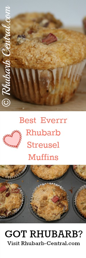 Best Rhubarb Muffins Homemade Rhubarb Streusel Muffins