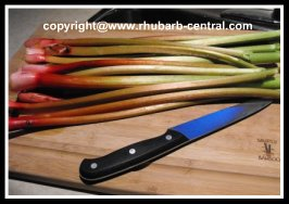 Cutting or Chopping Rhubarb