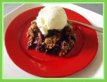 Rhubarb Blueberry Crumble