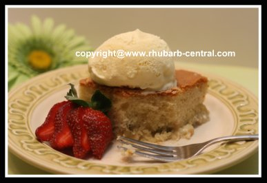 Easy Rhubarb Cake using Boxed Cake Mix and Fresh Rhubarb