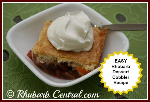 Easy Rhubarb Cobbler Recipe