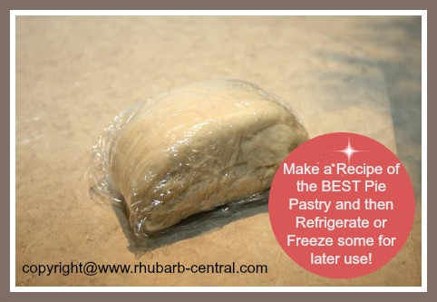 Freezing or Refrigerating Extra Pie Pastry Dough