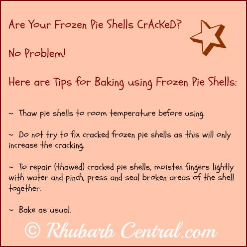 Tip How to Fix a Broken Frozen Pie Shell
