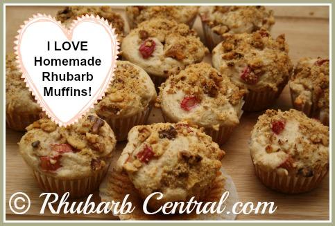 Homemade Rhubarb Muffins