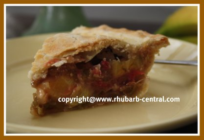 Rhubarb Banana Recipe for Pie