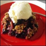 Rhubarb Blueberry Crumble