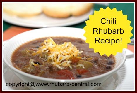 Rhubarb Supper or Dinner - Rhubarb Chili Recipe