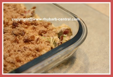 Making a Rhubarb Cake with Streusel Topping