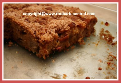 Coffee Cake Made with Rhubarb