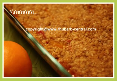 Mandarin Orange Crisp Recipe with Rhubarb for Dessert or Snacktime