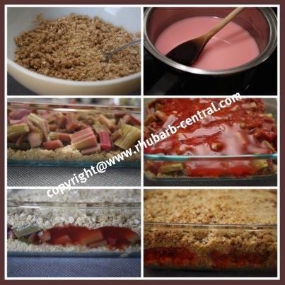 How to Make Rhubarb Crunch
