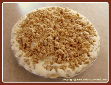 Oven Ready Homemade Rhubarb Custard Pie