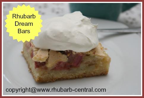 Homemade Rhubarb Dream Bars