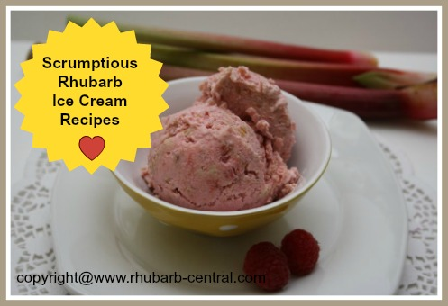 Rhubarb Ice Cream Recipes