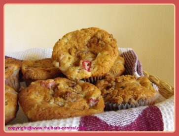 Rhubarb Streusel Muffins Moist and Delicious