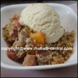 Rhubarb Peach Crumble