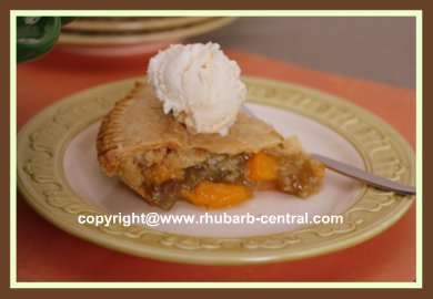 Yummy Peach and Rhubarb Pie
