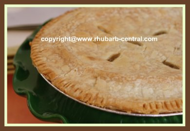 Easy Rhubarb Pie Recipe Homemade
