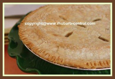 Easy Rhubarb Pie Recipe Homemade
