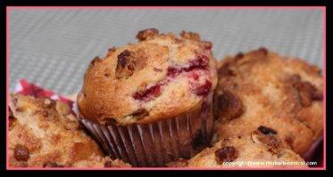 Rhubarb Raspberry Muffins Homemade