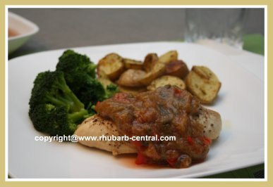 Dinner Made with Rhubarb and Chicken