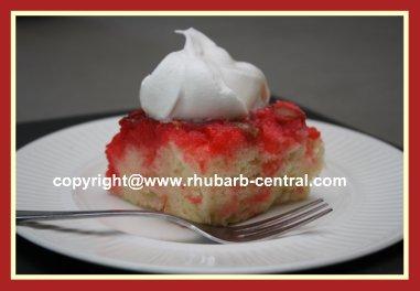 Rhubarb Upside Down Cake or Rhubarb Dump Cake