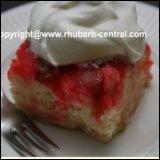 Rhubarb Upside Down Cake / Rhubarb Dump Cake