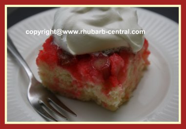 Quick and Easy Rhubarb Upside Down Cake Recipe or Dumpcake or BoxCakeRecipe