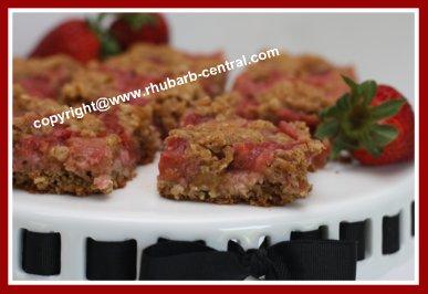 Rhubarb and Strawberry Squares / Bars Recipe