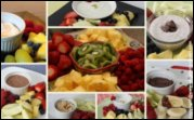 Fresh Fruit Platters and Trays With Fruit Dip Homemade