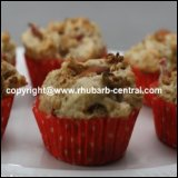 Rhubarb Muffins with Granola