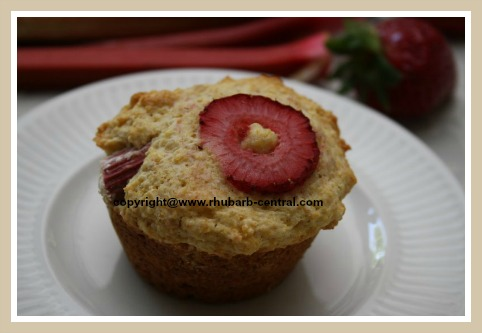 Best Cornmeal Muffin Recipe with Rhubarb and Strawberries