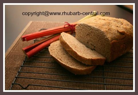 Bread Maker Machine Recipe for Homemade Rhubarb Bread