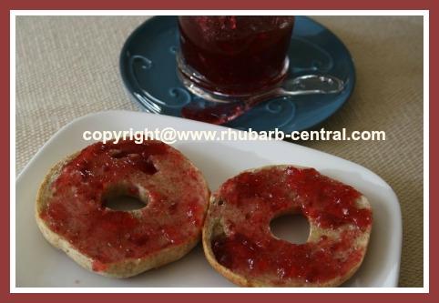 Cooked Rhubarb Raspberry Jam Spread Recipe  Image