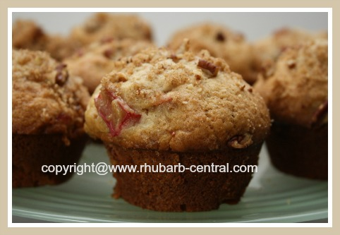 Delicious Best Moist Rhubarb Muffins