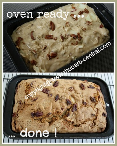 Easy to Make Rhubarb Bread Loaf Recipe
