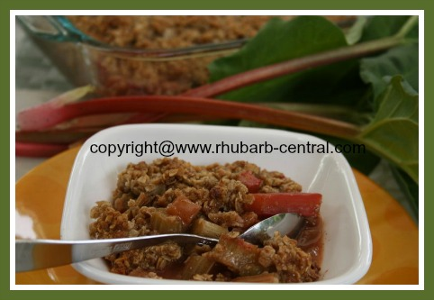 Recipe for Fresh Field or Greenhouse Rhubarb - Rhubarb Crisp