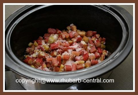 Frozen Rhubarb in the Crockpot