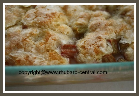 Healthy Homemade Rhubarb Cobbler