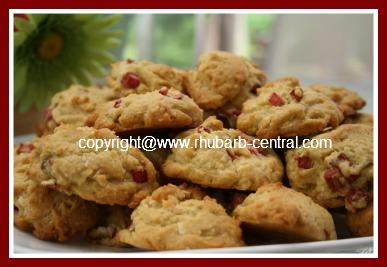 Recipe for Homemade Rhubarb Cookies