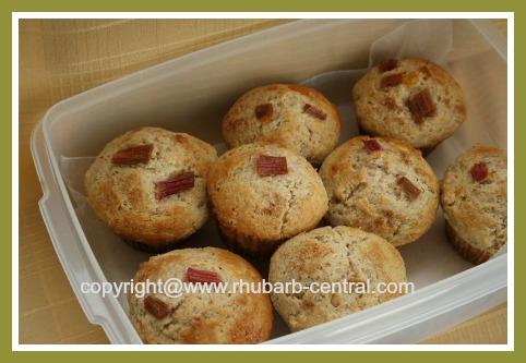 Homemade Rhubarb Muffins Using Fresh OR Frozen Rhubarb