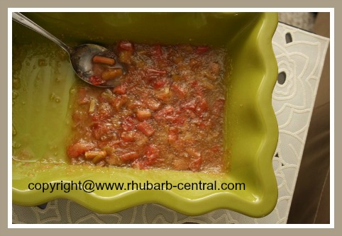 Homemade Rhubarb Tapioca Dessert