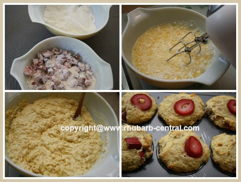 How to Make a Recipe for Strawberry Rhubarb Cornmeal Muffins