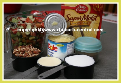 Ingredients Needed to Make the Easiest Rhubarb Dessert