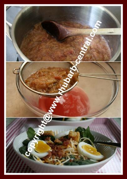 Making a Rhubarb Salad Dressing for Spinach Salad