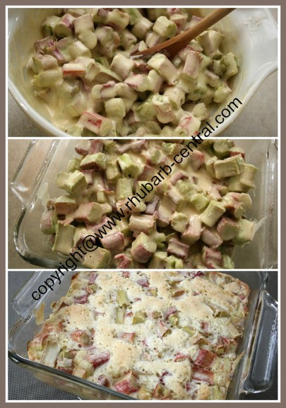 Making a Quick and Easy Rhubarb Pudding Dessert Recipe