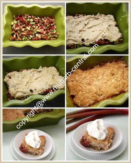 Making a Rhubarb Pudding Cake Recipe How to