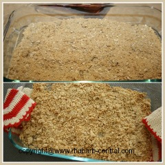 Making Cookie Crumble for Homemade Ice Cream