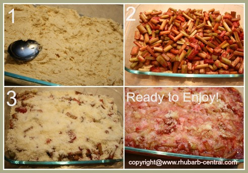 Making a Fresh Rhubarb Recipe - Easy Rhubarb Cake
